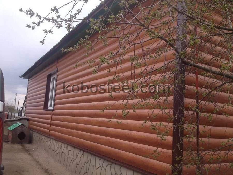 Металевий сайдинг блок хаус в Миколаєві.