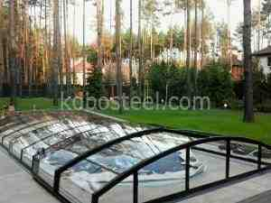 Каркасный пластиковый бассейн.